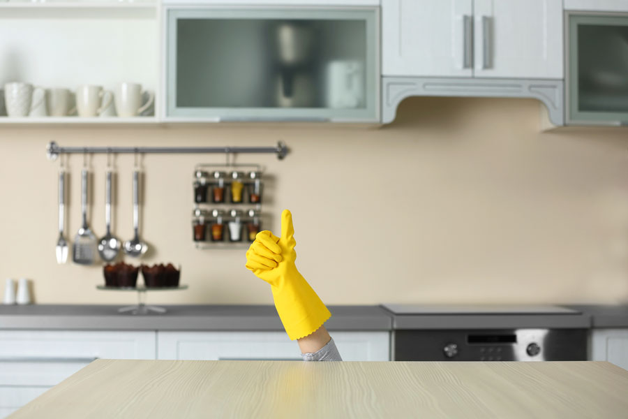 Clean-kitchen-glove